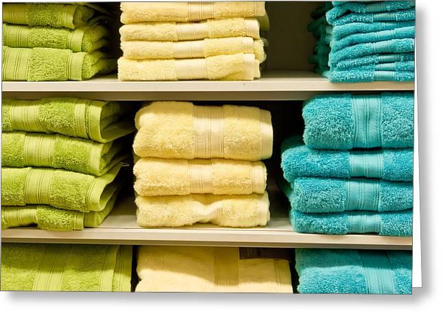 Towels Greeting Card