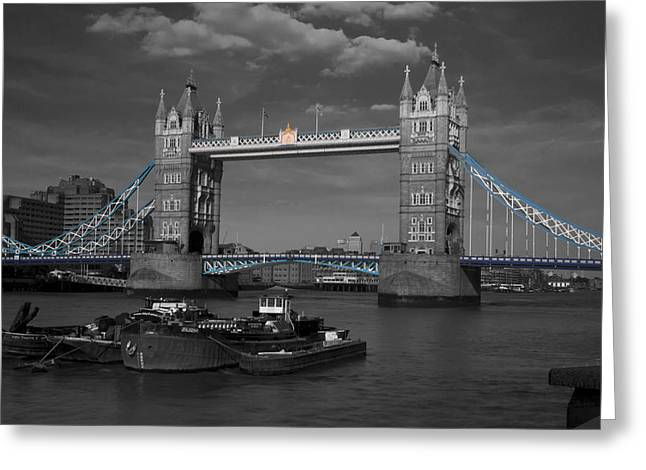 Tower  Bridge Thames London Greeting Card