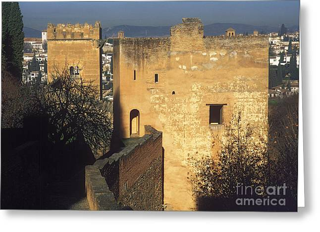 Tower Of The Cadi The Alhambra Greeting Card
