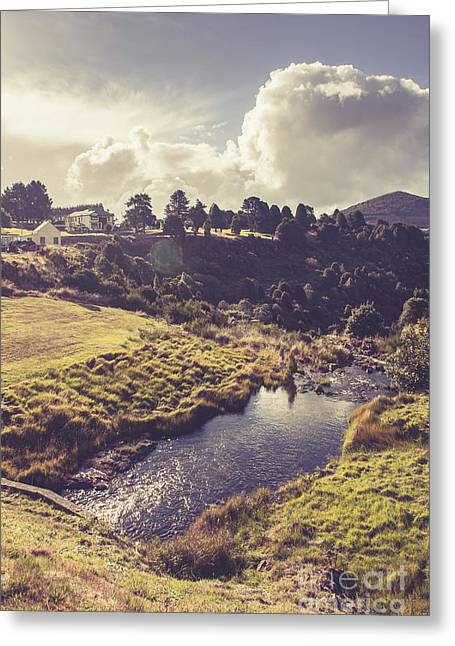 Town Of Waratah In Tasmania Australia Greeting Card by Jorgo Photography - Wall Art Gallery