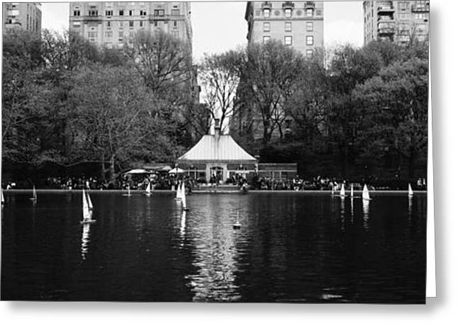 Toy Boats Floating On Water, Central Greeting Card by Panoramic Images