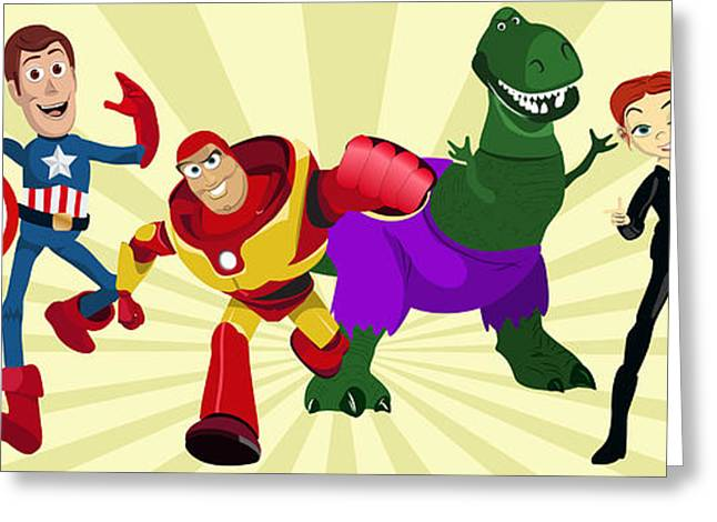 Toy Story Avengers Greeting Card