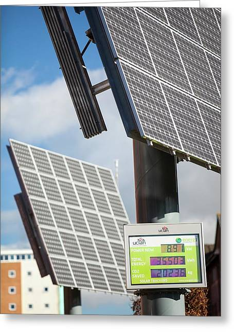 Tracking Solar Voltaic Panels Greeting Card