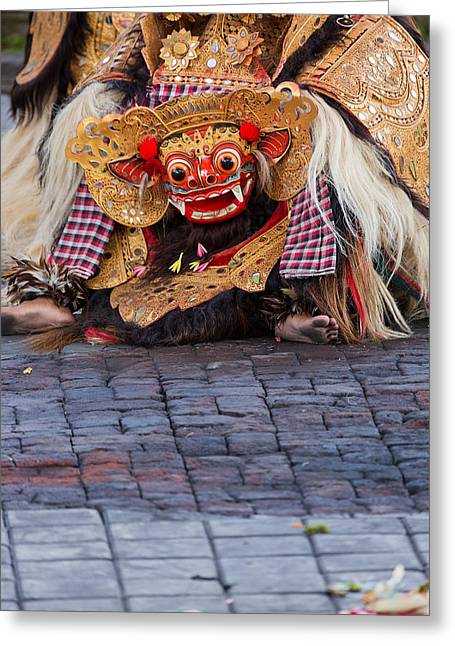Traditional Dance - Bali Greeting Card by Matthew Onheiber