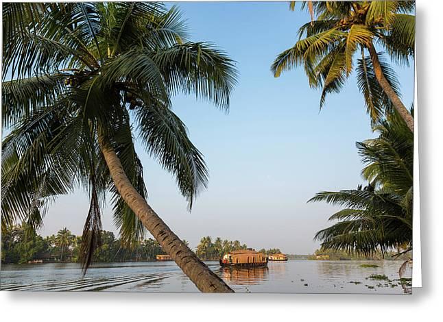 Traditional Houseboat, Kerala Greeting Card