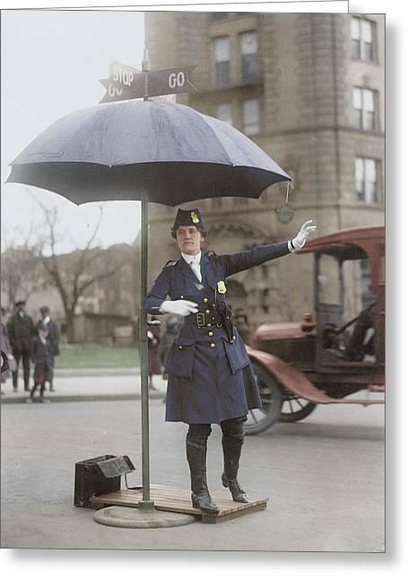 Traffic Cop In Washington D.c., Circa Greeting Card