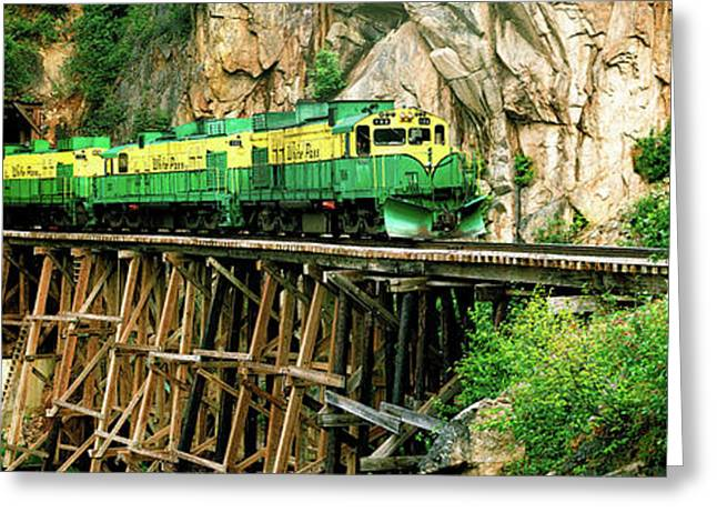 Train On A Bridge, White Pass And Yukon Greeting Card