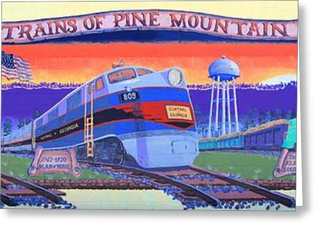 Trains Of Pine Mountain Greeting Card