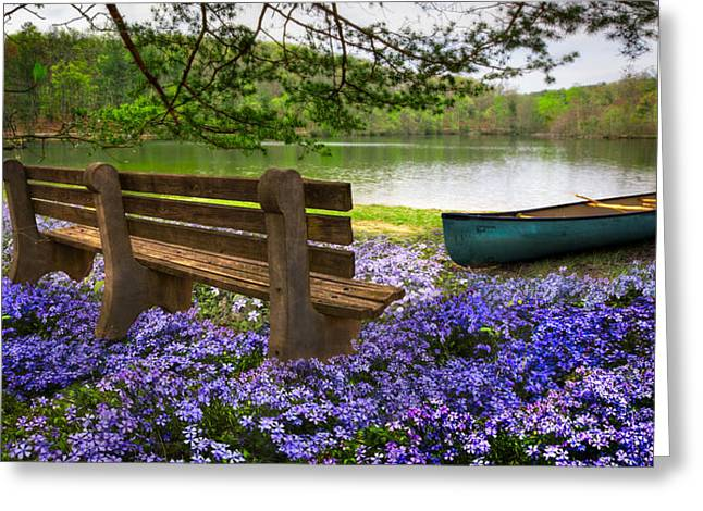 Tranquility Greeting Card by Debra and Dave Vanderlaan