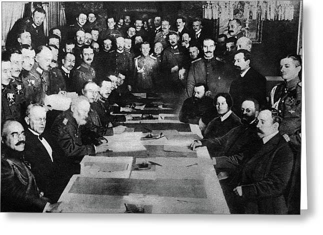 Treaty Of Brest-litovsk Greeting Card by Granger
