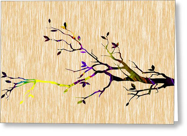 Tree Branch Greeting Card by Marvin Blaine
