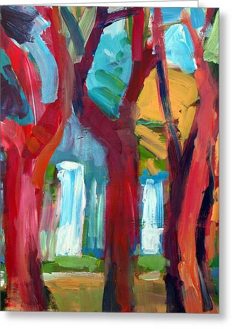 Tree Greeting Card by Magdalena Mirowicz