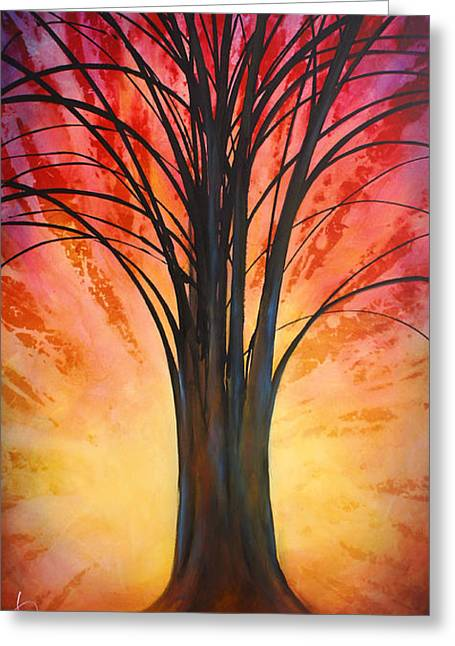 'tree Of Life' Greeting Card by Michael Lang