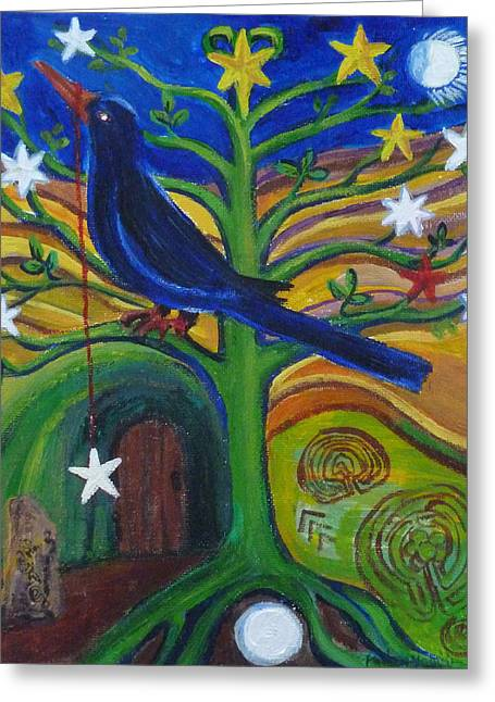 Tree Of Stars Greeting Card