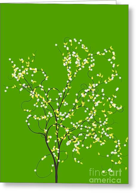 Trees Of Life Greeting Card by Charles Dobbs