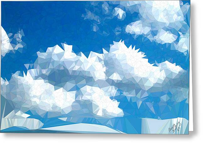 Triangulated Clouds Greeting Card
