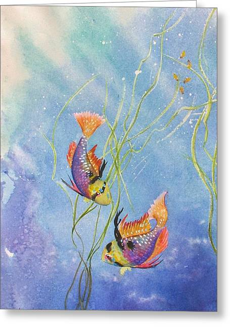 Tropical Fantasy Iv Greeting Card by Laura Lee Zanghetti