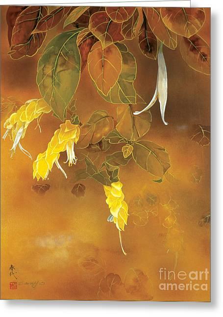 Tropical Flower  Greeting Card by Haruyo Morita
