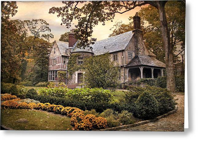 Tudor In Autumn Greeting Card by Jessica Jenney