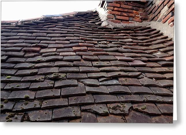 Tudor Tile Roof Greeting Card