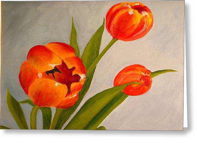 Tulips Greeting Card by Valerie Lynch