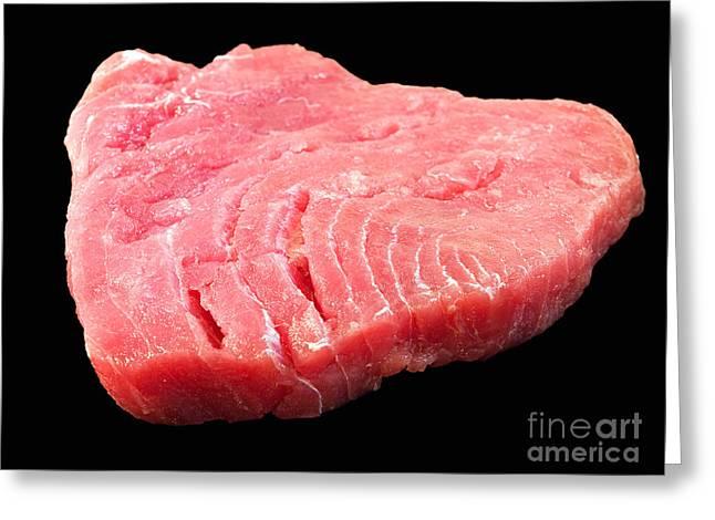 Tuna Steak Greeting Card by Sinisa Botas
