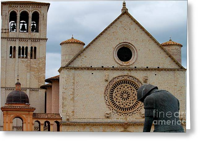 Greeting Card featuring the photograph Turning Point --st. Francis Of Assisi by Theresa Ramos-DuVon