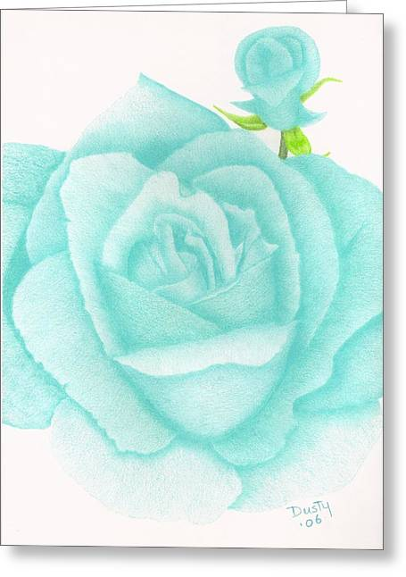 Turquoise Jewel Greeting Card by Dusty Reed