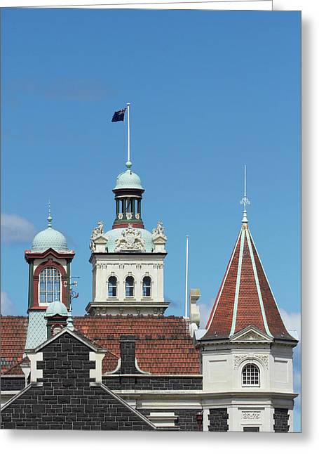 Turrets, Spires & Clock Tower, Historic Greeting Card by David Wall