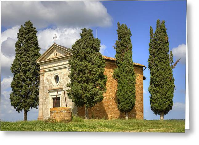 Tuscany - Cappella Di Vitaleta Greeting Card by Joana Kruse