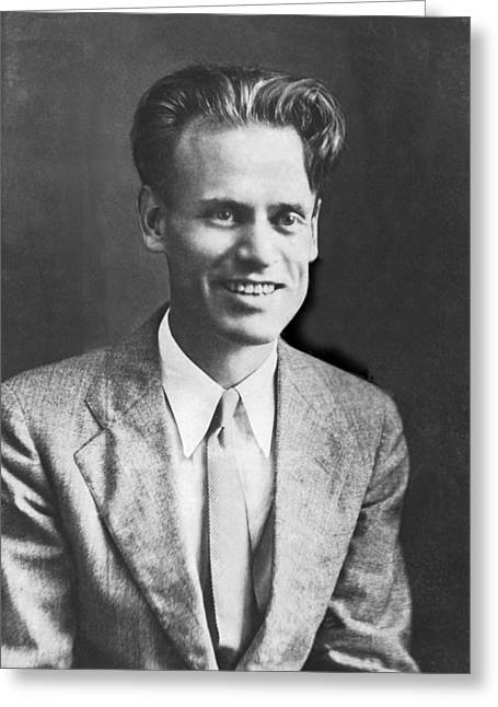 Tv Pioneer Philo Farnsworth Greeting Card by Underwood Archives