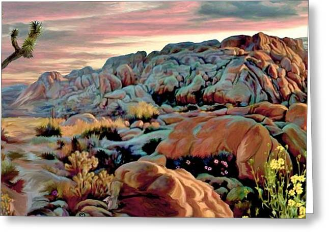 Twilight At Joshua 2 Greeting Card by Ron Chambers