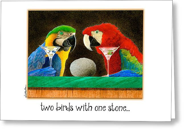 Two Birds With One Stone... Greeting Card