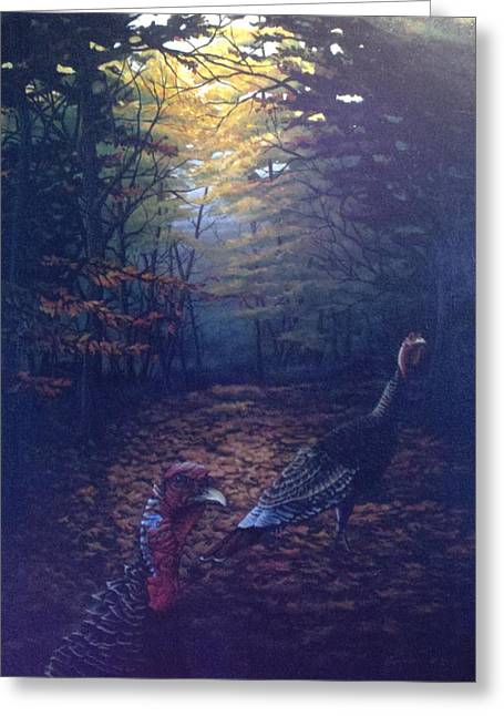 Two Jakes Greeting Card by Dan Parsons