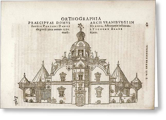 Tycho's Observatory Of Uraniborg Greeting Card by Library Of Congress