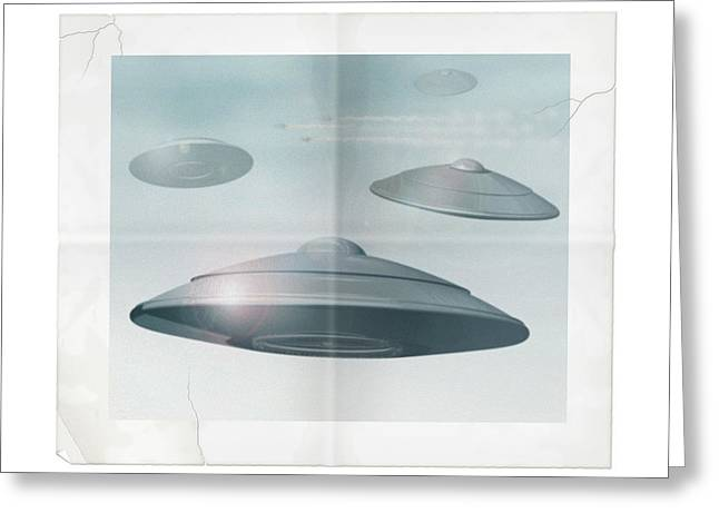 Ufo Sighting Greeting Card