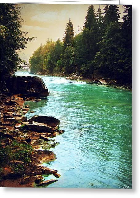 Ukrainian River Greeting Card by Kate Black