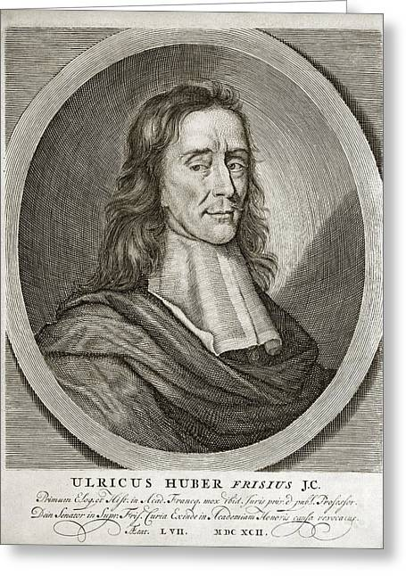 Ulrik Huber, Dutch Jurist Greeting Card by Middle Temple Library