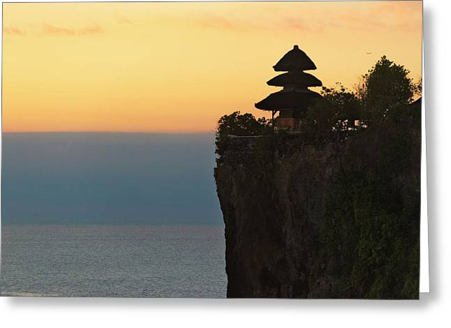 Uluwatu Temple On The Cliff, Bali Greeting Card