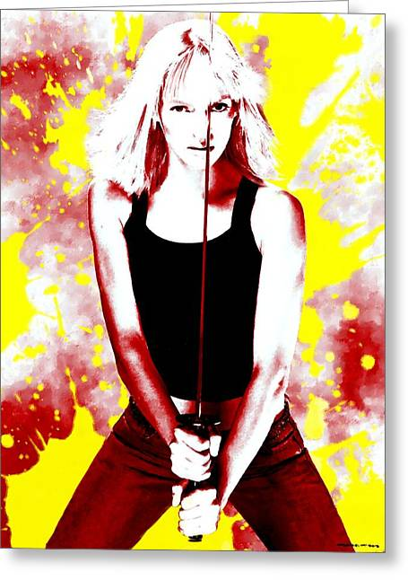 Uma Thurman Greeting Card