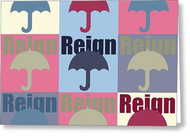 Umbrella In Pop Art  Greeting Card