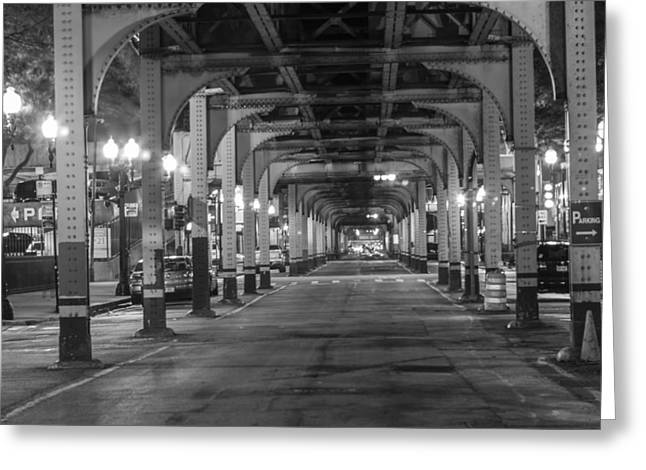 Under The El In Chicago  Greeting Card