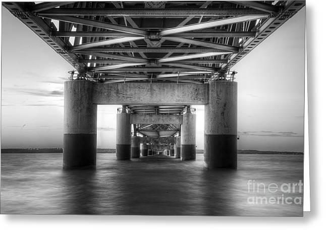 Under The Mackinac Bridge Greeting Card