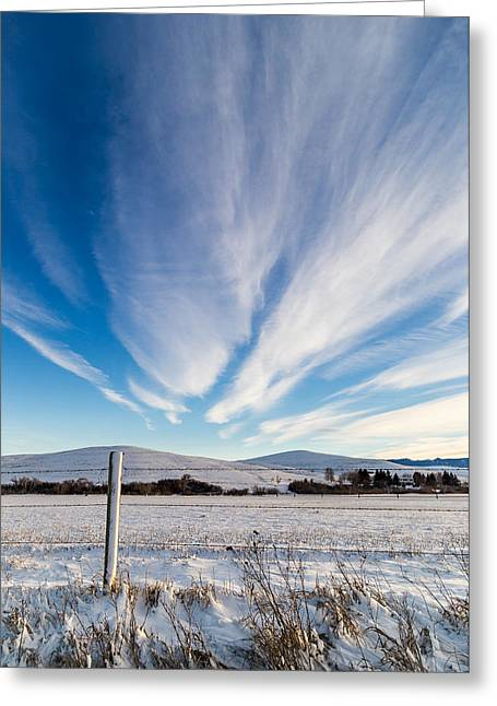 Under Wyoming Skies Greeting Card