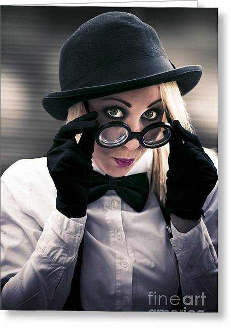 Undercover Secret Agent Greeting Card by Jorgo Photography - Wall Art Gallery