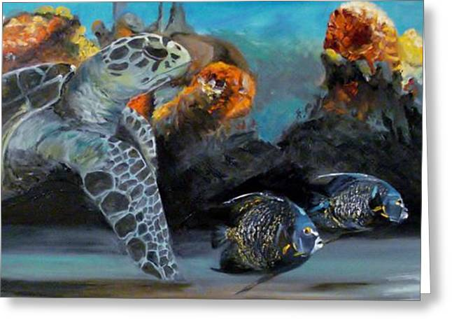 Underwater Beauty Greeting Card by Donna Tuten