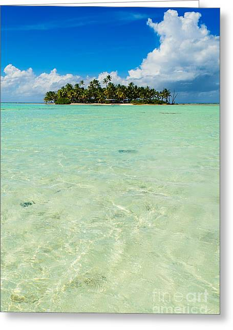 Uninhabited Island In The Pacific Greeting Card