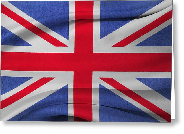 Union Jack Flag Greeting Card by Les Cunliffe
