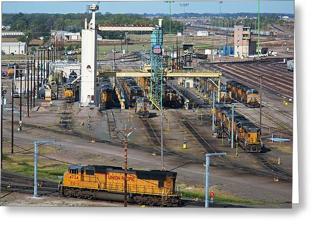 Union Pacific Railroad's Bailey Yard Greeting Card by Jim West