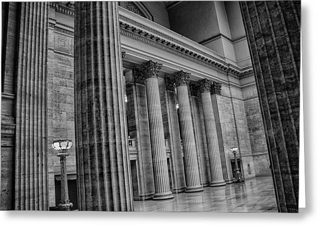 Union Station Chicago Greeting Card by Mike Burgquist